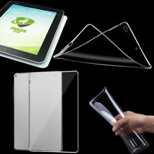 Schutzhülle Silikon Transparent Tasche für NEW Apple iPad 9.7 2017 + Hartglas