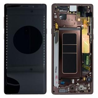 Samsung Display LCD Komplettset GH97-22269D Braun für Galaxy Note 9 N960F Ersatz