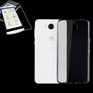 Silikoncase Transparent Tasche + 0, 3 H9 Panzerglas für Huawei Y5 2017 Hülle Neu