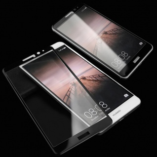 Full Hartglas 0, 26 mm dünne H9 Schock Schwarz für Huawei P10 Schutz Hülle Neu