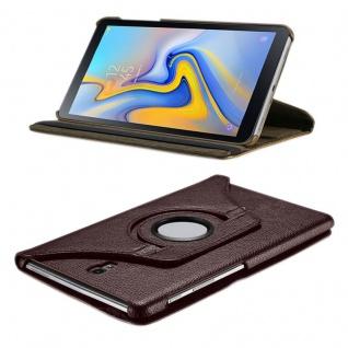 Für Samsung Galaxy Tab S4 10.5 T830 T835F Braun 360 Grad Kunstleder Tasche Hülle