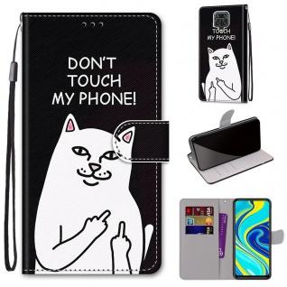 Für Xiaomi Redmi Note 9S / 9 Pro Kunst-Leder Handy Tasche Motiv 4 Hülle Etuis