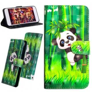 Für Huawei P Smart Plus Kunstleder Tasche Book Motiv 35 Schutz Hülle Case Cover