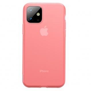 Für iPhone 11 Baseus Silikon Schutzhülle transparent Rot Tasche Cover Etui Case