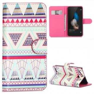 Schutzhülle Muster 32 für Huawei P9 Bookcover Tasche Case Hülle Wallet Etui Neu - Vorschau 1