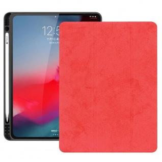 Smartcover Rot für Apple iPad Pro 11.0 Zoll 2018 Tasche Hülle Pen Case Zubehör