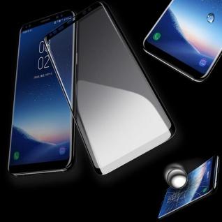 4D Full 0, 3 mm H9 gebogenes Hart Glas Schwarz Folie für Samsung Galaxy S9 G960F