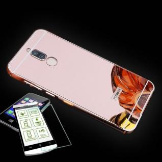 Alu Bumper 2 teilig Pink + 0, 3 H9 Hartglas für Huawei Mate 10 Lite Tasche Case