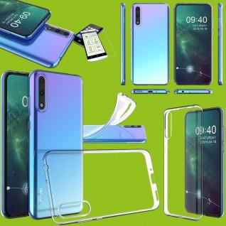 Für Huawei P Smart S 2020 Silikon TPU Transparent + H9 Glas Handy Tasche Etuis