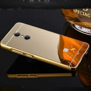 Spiegel / Mirror Alu Bumper 2teilig Gold für Xiaomi Redmi 5 Tasche Hülle Cover