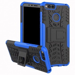 Hybrid Case 2teilig Outdoor Blau Tasche Hülle für Huawei Honor 7X Etui Cover Neu