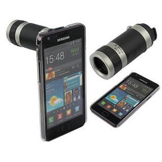 Kamera Telescope für Samsung Galaxy S2 i9100 Objektiv Hülle Zubehör 8x Zoom Neu