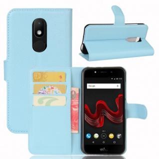 Tasche Wallet Premium Hellblau für Wiko Wim Lite Hülle Case Cover Etui Schutz