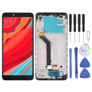 Für Xiaomi Redmi S2 Reparatur Display LCD Komplett Einheit mit Rahmen Schwarz