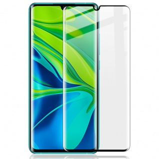 Für Xiaomi Mi Note 10 10 Pro 2x 4D Display H9 Hart Glas Schwarz Folie Panzer