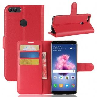 Tasche Wallet Premium Rot für Huawei Enjoy 7S / P Smart Hülle Case Cover Schutz