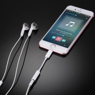 Audio AUX Adapter 8 Pin auf 3, 5 Klinke für Apple iPhone 7 7 Plus Kabel Weiss Neu - Vorschau 4