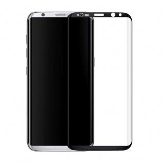 4D 0, 3 mm H9 gebogenes Hart Glas Schwarz Folie für Samsung Galaxy S8 G950 G950F