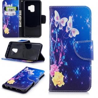 Tasche Wallet Book Cover Motiv 31 für Samsung Galaxy S9 G960F Hülle Case Etui