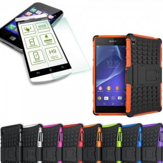 Hybrid Case 2 teilig Orange für Sony Xperia Z3 Plus E6553 / Dual + Hartglas