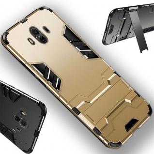 Für Huawei P Smart Plus Metal Style Outdoor Gold Tasche Hülle Cover Schutz Neu