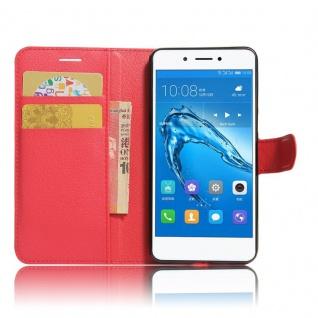 Tasche Wallet Premium Rot für Huawei Honor 6C Hülle Case Cover Etui Schutz Neu - Vorschau 4