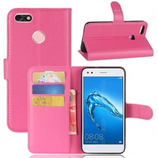 Tasche Wallet Premium Pink für Huawei Y6 Pro 2017 / Enjoy 7 Hülle Case Cover Neu