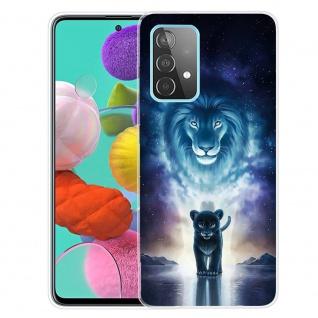 Für Samsung Galaxy A52 Silikon TPU Motiv Lion King Handy Hülle Transparent