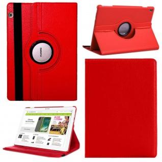 Für Huawei MediaPad M5 Lite 10.1 Tablet Tasche Hülle Case Cover Etui Schutz Rot