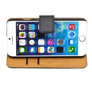 Wallet Tasche Deluxe Schwarz für Apple iPhone 6 4.7 Handy Hülle Zubehör Case - Vorschau 3