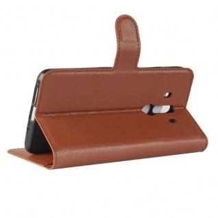 Tasche Wallet Premium Braun für Huawei Mate 10 Pro Hülle Case Cover Etui Schutz - Vorschau 4
