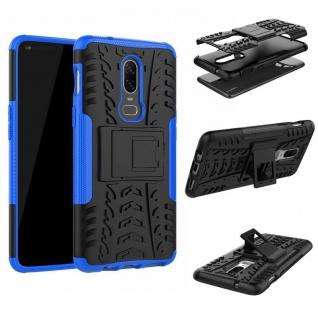 Für OnePlus 6 Six Hybrid Case 2teilig Outdoor Blau Etui Tasche Hülle Cover Neu - Vorschau