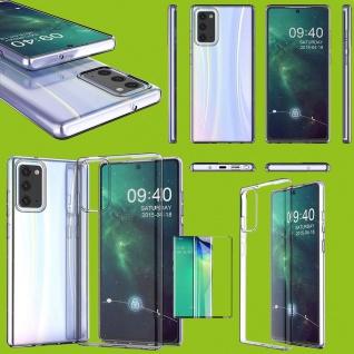 Für Samsung Galaxy Note 20 Plus Silikon + 4D H9 Curved Glas Handy Tasche Hülle
