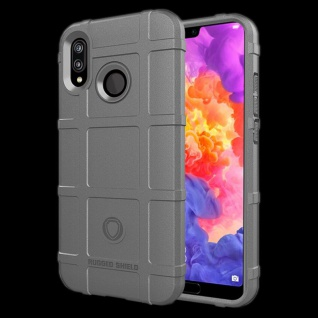 Für Huawei P Smart Plus Shield Series Outdoor Grau Tasche Hülle Cover Schutz Neu