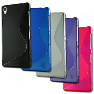 Silikoncase S-Line Hülle Case Cover Kappe Zubehör für viele Sony Xperia Modelle