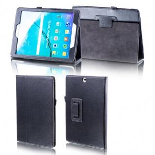 Für Samsung Galaxy Tab A 10.1 2019 T510 Schwarz Kunst Leder Hülle Tasche Etuis