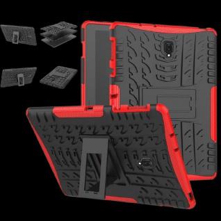 Hybrid Outdoor Schutz Hülle Rot für Samsung Galaxy Tab S4 10.5 T830 T835 Tasche
