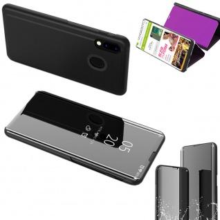 Für Samsung Galaxy A50 / A30s View Smart Cover Schwarz Etui Tasche Hülle Wake UP