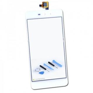 """Reparatur Display TouchScreen Flex Kabel Weiß für Wiko Rainbow """" UP """" Ersatzteil"""