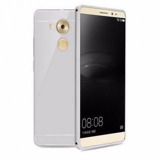 Alu Bumper 2 teilig mit Abdeckung Silber für Huawei Mate 8 Tasche Hülle Cover