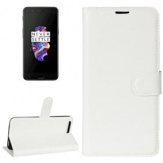 Tasche Wallet Premium Weiß für ONEPlus 5 Hülle Case Cover Etui Schutz Zubehör