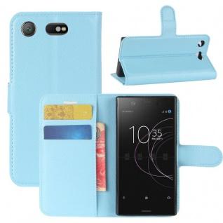 Schutzhülle Blau für Sony Xperia XZ1 Compact / Mini Bookcover Tasche Case Cover