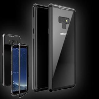 Für Samsung Galaxy Note 9 Magnet / Metall / Glas Schwarz / Transparent Tasche