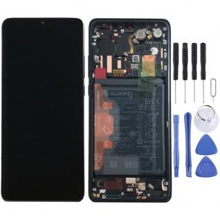 Huawei Display LCD Rahmen für P30 Pro Service 02352PBT Schwarz / Black Batterie