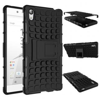 Hybrid Case 2teilig Outdoor Schwarz Tasche Hülle für Sony Xperia Z5 Premium 5.5