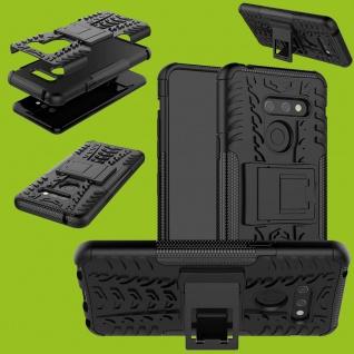 Für LG G8 ThinQ Hybrid Case 2teilig Outdoor Schwarz Tasche Cover Hülle Etuis Neu