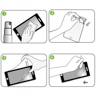 3x Displayschutzfolie für Samsung Galaxy S6 G920 G920F Schutz Folie + Poliertuch - Vorschau 2