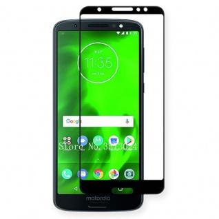 Für Motorola Moto G6 Plus 3D Premium 0, 3 mm H9 Hart Glas Schwarz Folie Schutz