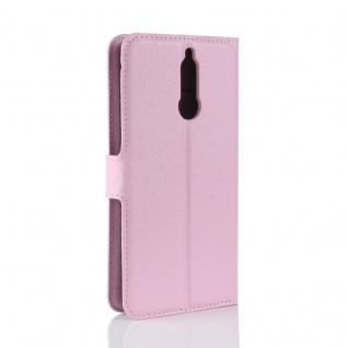 Tasche Wallet Premium Rosa für Huawei Mate 10 Lite Hülle Case Cover Etui Schutz - Vorschau 3