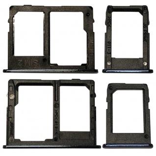 Simkarten Halter für Samsung Galaxy J4 Plus J415F 2018 Card Tray SD Schwarz